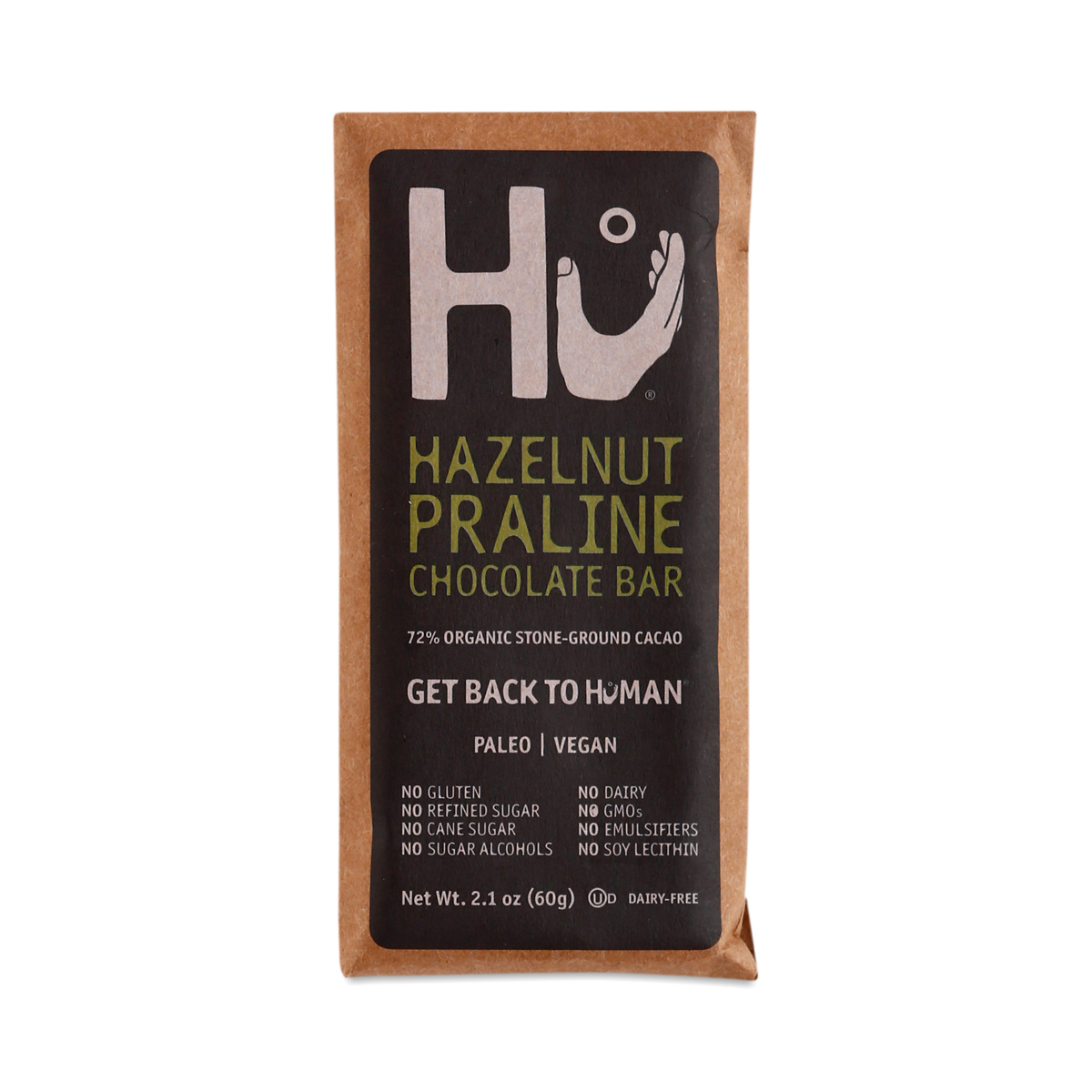 Hazelnut Praline Chocolate Bar By Hu Kitchen Thrive Market