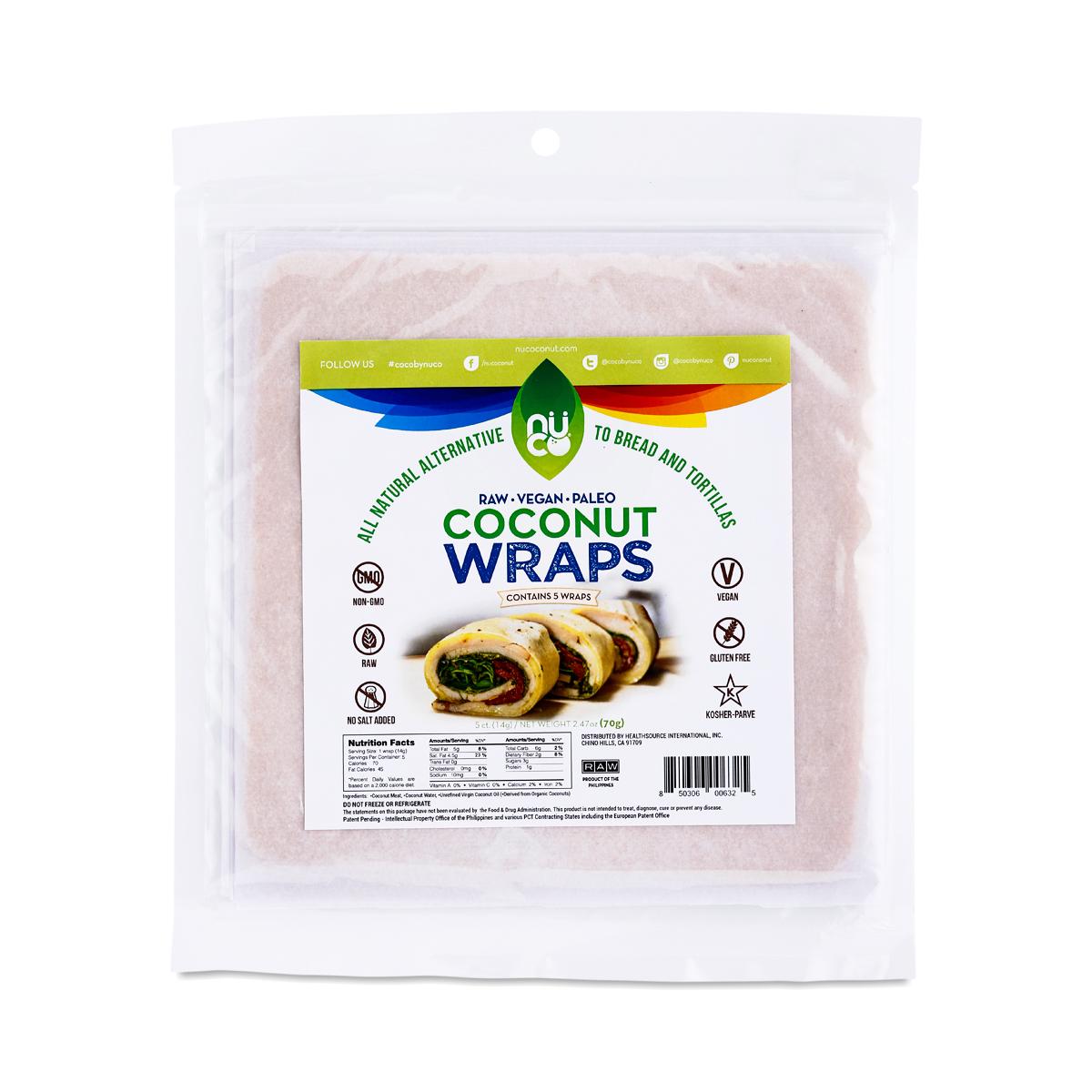 Nuco Original Coconut Wraps five 14g wraps