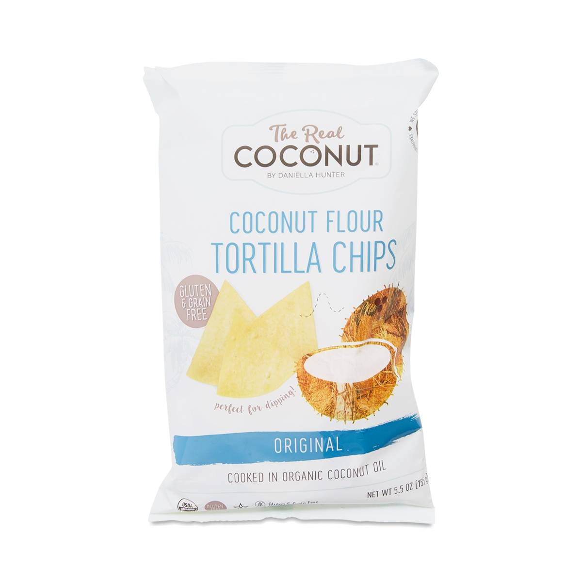 The Real Coconut Original Coconut Flour Tortilla Chips - Thrive Market