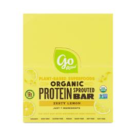 Organic Sprouted Grow Plant Protein Bar, Zesty Lemon