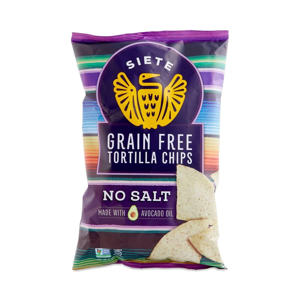 Siete No Salt Grain Free Tortilla Chips - Thrive Market