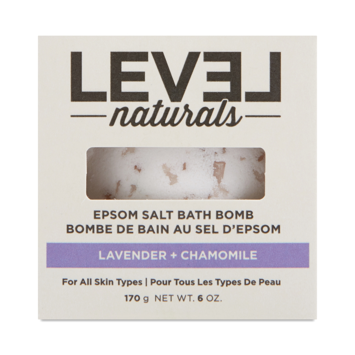 Level Naturals Epsom Salt Bath Bomb, Lavender & Chamomile  1 count