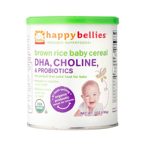 Happy Bellies Organic Brown Rice Cereal By Happy Baby
