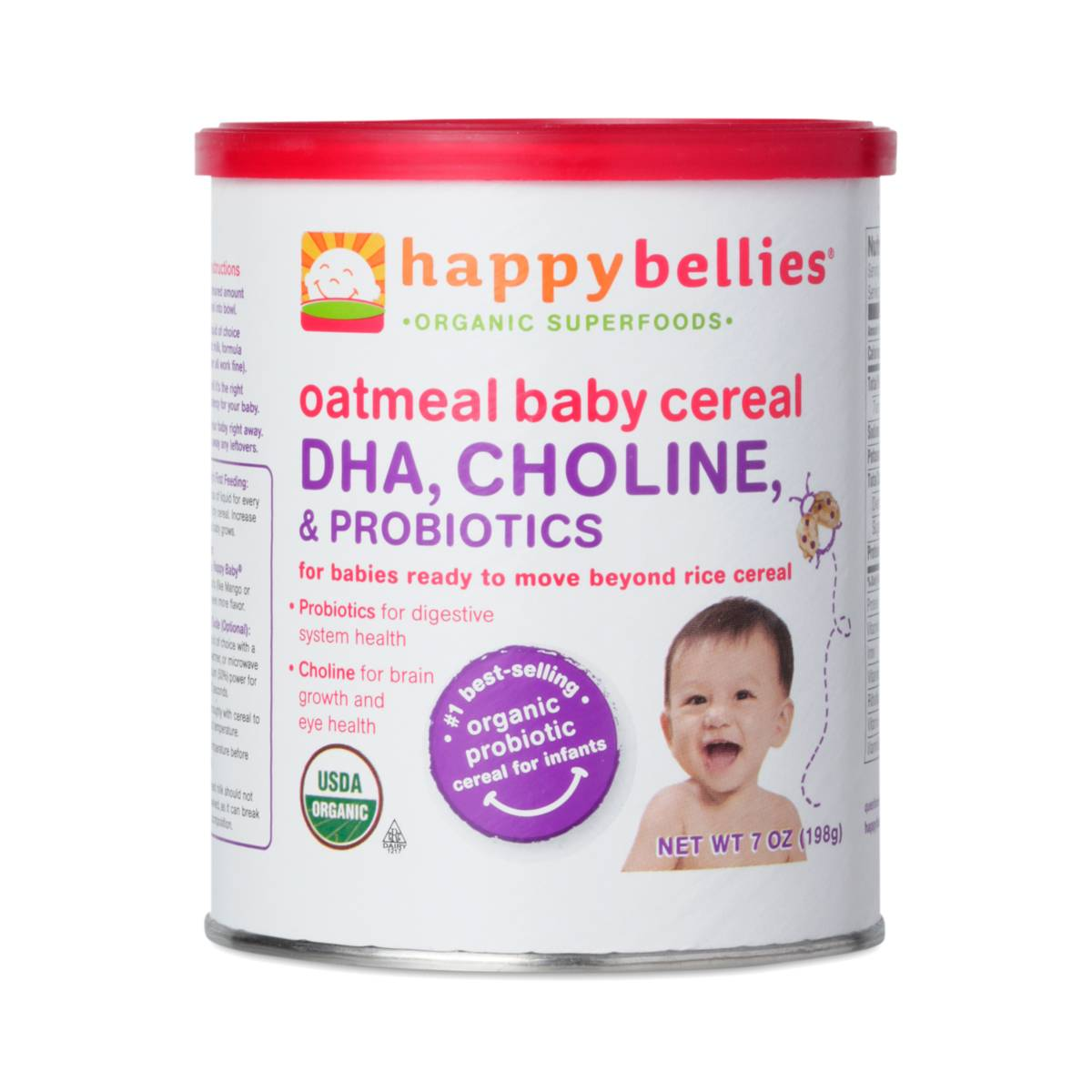 Happy Bellies Organic Oatmeal Cereal By Happy Baby