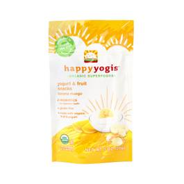 Happy Yogis Organic Yogurt Snacks, Banana Mango