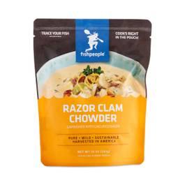 Creamy Razor Clam and Bacon Chowder
