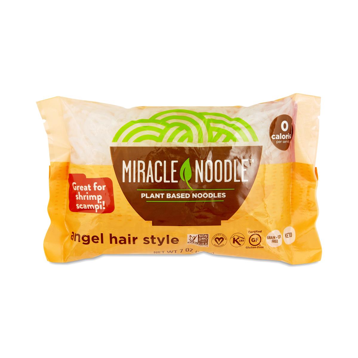 Miracle Noodle Angel Hair Shirataki Noodles 7 oz pouch