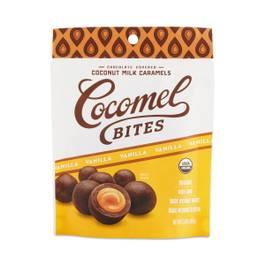 Vanilla Chocolate Covered Coconut Milk Caramel Bites