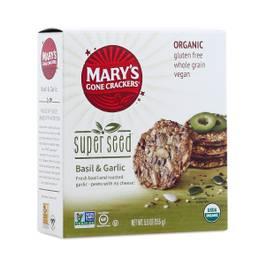 Organic Super Seed Crackers - Basil & Garlic