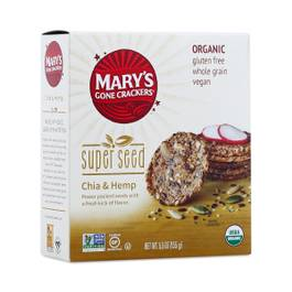 Organic Super Seed Crackers, Chia & Hemp