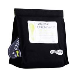 Insulated Lunch Sack, Black