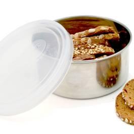 Medium Round Container, Clear