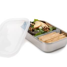 Rectangle Container with Moveable & Removeable Divider, Clear