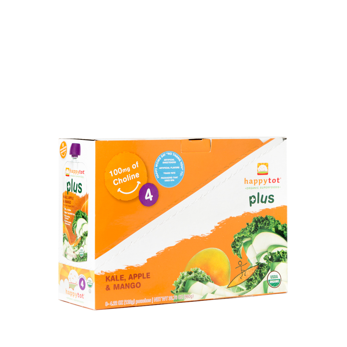 Happy Baby Happy Tots Organic Superfoods, Kale, Apple & M...