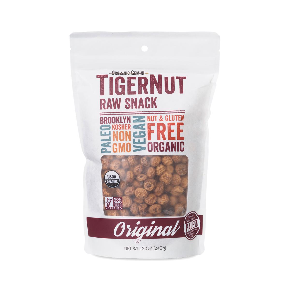 Organic Gemini TigerNut Raw Snack 12 oz pouch