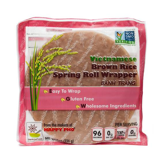 Vietnamese Brown Rice Spring Roll Wrapper