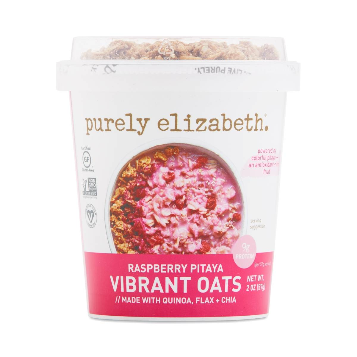 Purely Elizabeth Vibrant Oats Cup, Raspberry Pitaya - Thrive Market