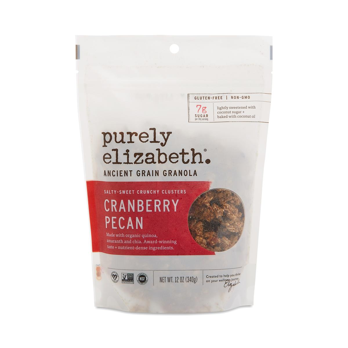 Purely Elizabeth Ancient Grain Granola Cereal, Cranberry Pecan 12 oz bag