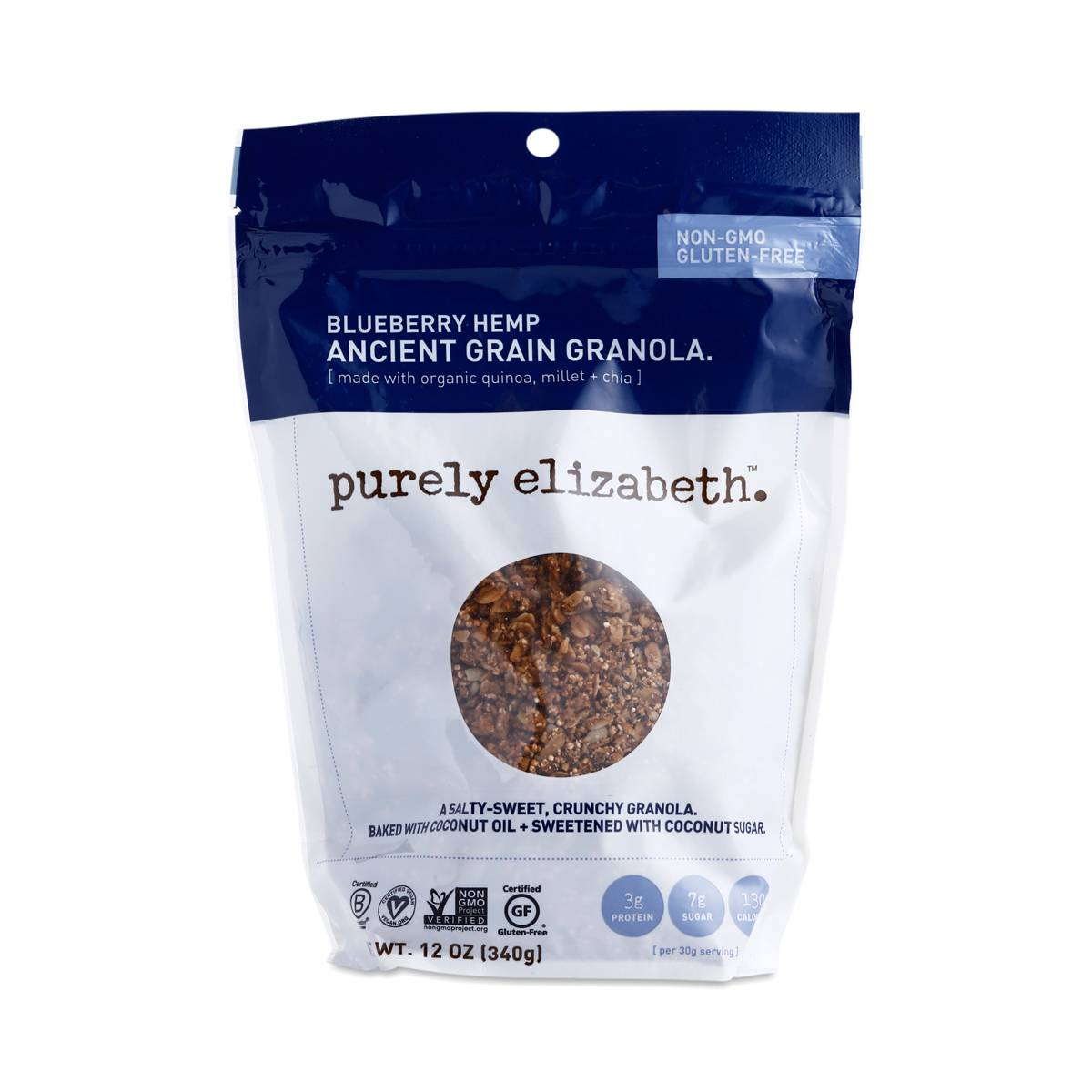 Purely Elizabeth Ancient Grain Granola Cereal Blueberry Hemp - Thrive Market