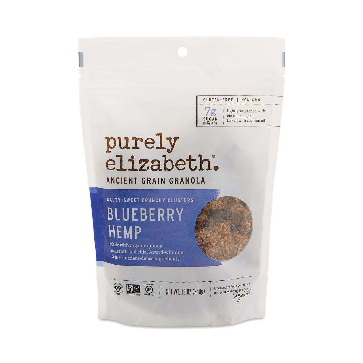 Purely Elizabeth Ancient Grain Granola Cereal, Blueberry Hemp 12 oz bag