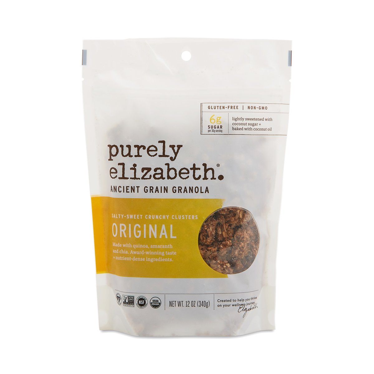 Purely Elizabeth Ancient Grain Granola Cereal, Original 12 oz bag