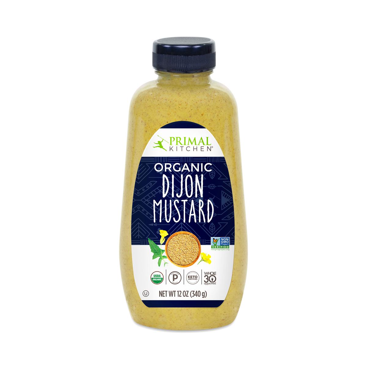 Primal Kitchen Organic Dijon Mustard 12 oz bottle