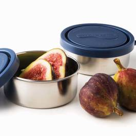 Small Round Containers, Ocean, 2-Pack