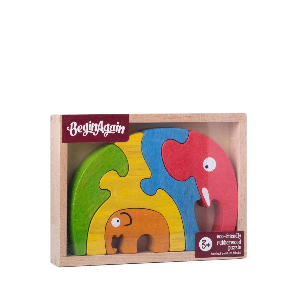 Elephant Family Puzzle By Beginagain Toys Thrive Market