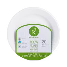 Heavy Duty Compostable Plates, Small