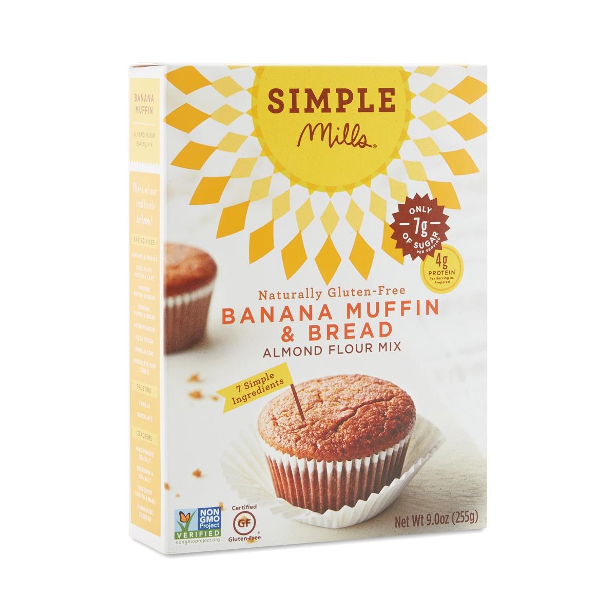 Simple Mills Banana Muffin & Bread Mix 9.4 oz box