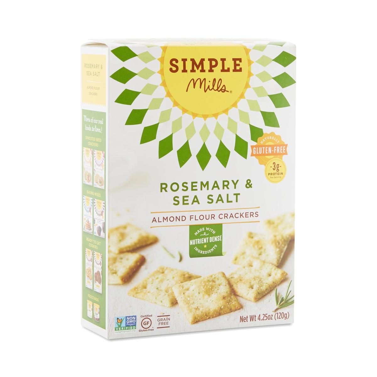 Simple Mills Rosemary & Sea Salt Almond Flour Crackers ...