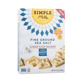 Fine Ground Sea Salt Almond Flour Crackers
