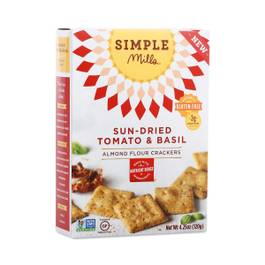 Sundried Tomato & Basil Almond Flour Crackers