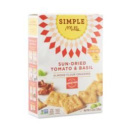 Sundried Tomato & Basil Almond Flour Crackers