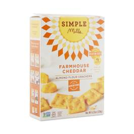 Farmhouse Cheddar Almond Flour Crackers
