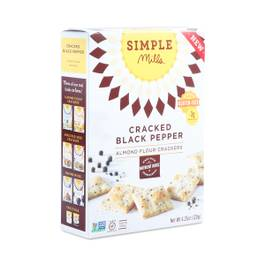 Cracked Black Pepper Almond Flour Crackers
