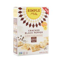 Cracked Black Pepper Almond Flour Crackers