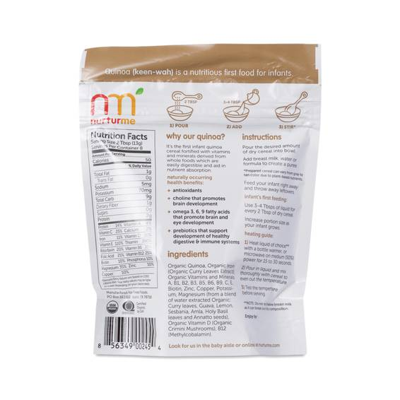 Protein Packed Quinoa Baby Cereal By Nuturme Thrive Market