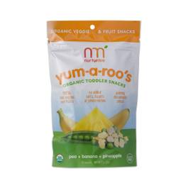 Yum-a-Roo's Organic Fruit & Veggie Snacks, Pea, Banana, and Pineapple