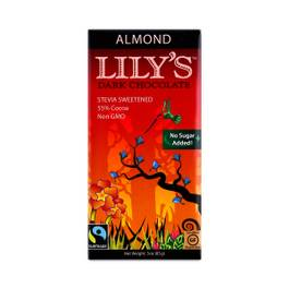 Stevia Sweetened Dark Chocolate Bar, Almond