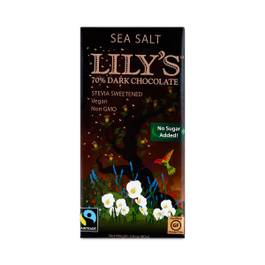 Stevia Sweetened 70% Dark Chocolate with Sea Salt