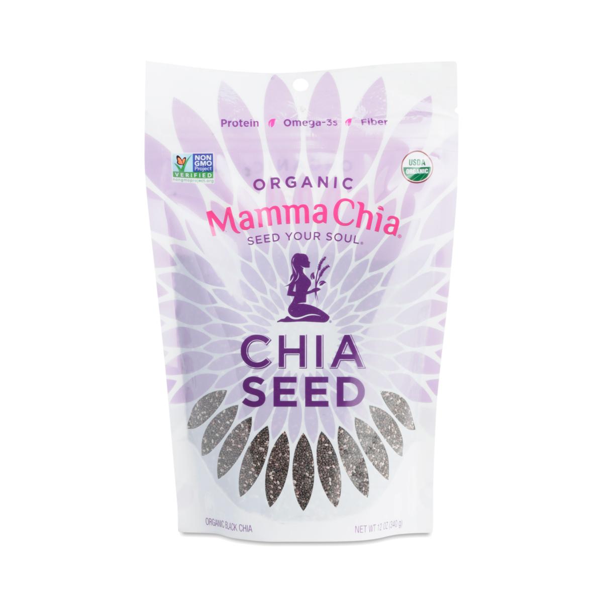Mamma Chia Organic Black Chia Seeds 12 oz pouch