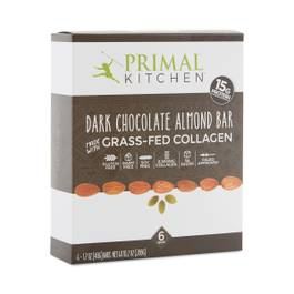 Dark Chocolate Almond Bar with Grass-Fed Collagen, 6-Pack