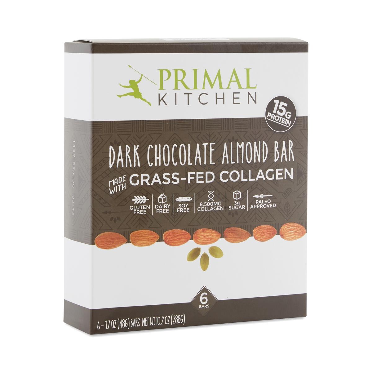 Dark Chocolate Almond Bar With Grass Fed Collagen, 6 Pack. Thrive · Food · Primal  Kitchen