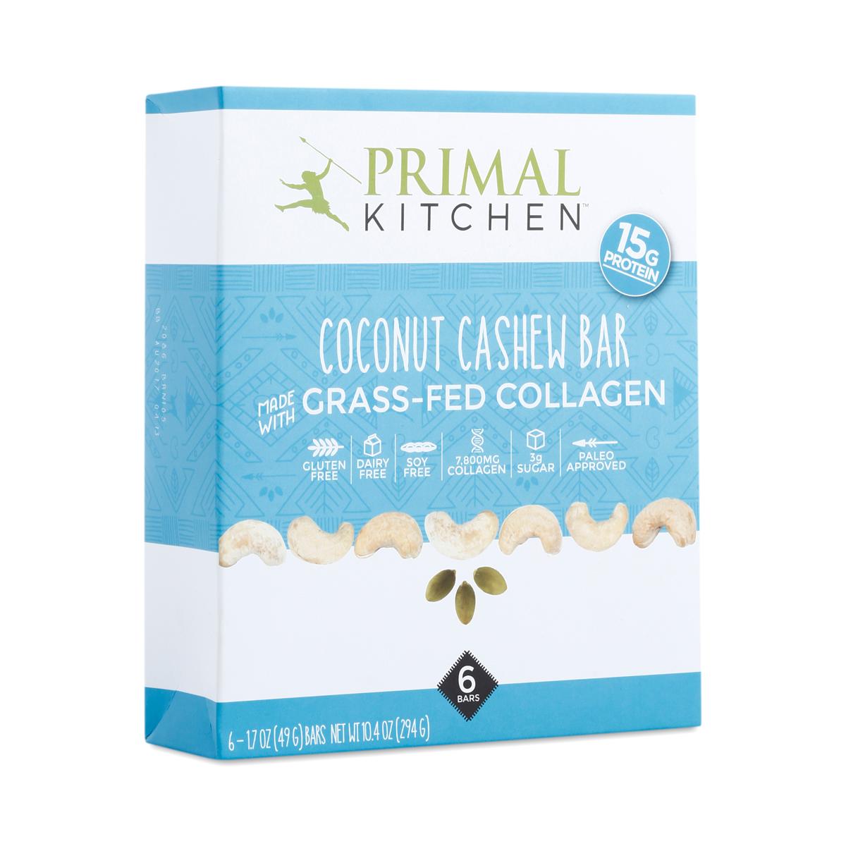 6-pack Coconut Collagen Bar by Primal Kitchen - Thrive Market