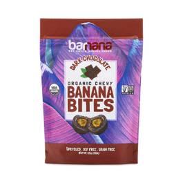 Organic Chewy Banana Bites,Dark Chocolate