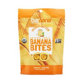 Organic Peanut Butter Chewy Banana Bites