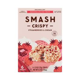 Smash Crispy Strawberries & Cream