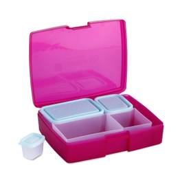 Bento Box: Classic 6 Piece Set, Raspberry/Blue