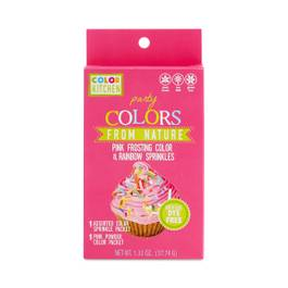 Party Pink Frosting Color & Rainbow Sprinkles